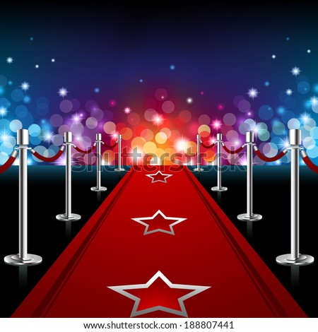 Luxury Red Carpet - EPS 10 - stock vector