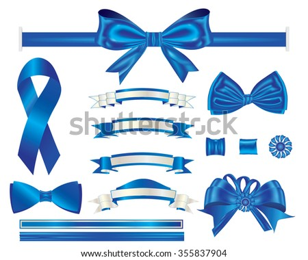 blue ribbons designs