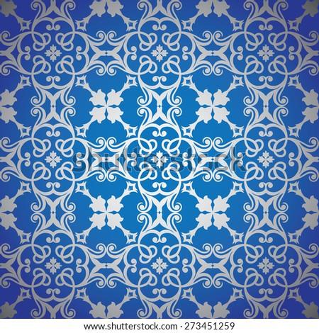 Luxury seamless ornamental pattern  - stock vector