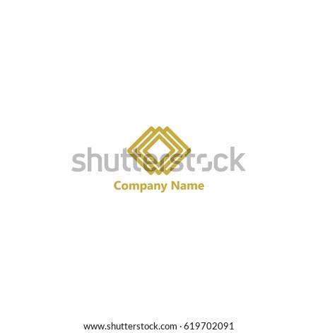 abstract hexagon line logo template stock vector 588742550. Black Bedroom Furniture Sets. Home Design Ideas