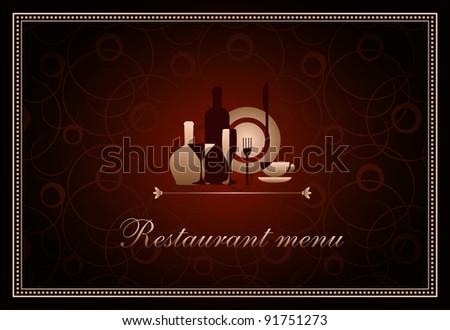 luxury template for f restaurant menu - stock vector