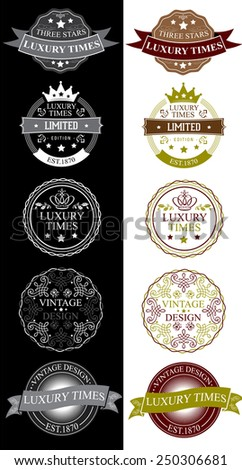 LUXURY TIMES BADGES
