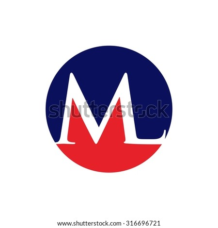 m and  logo vector