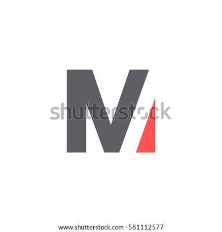 Enement Letter | M Letter Logo Design Vector Element Stock Vektorgrafik 581112577