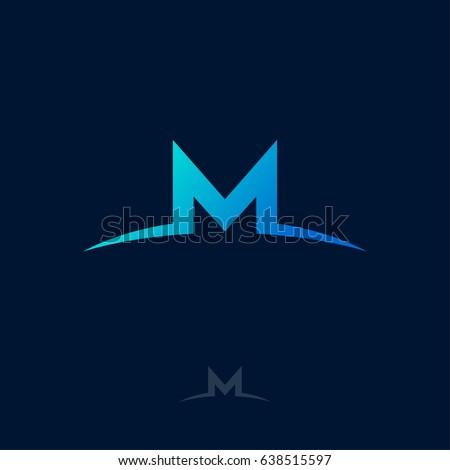 M Logo M Monogram Blue Letter Stock Vector 638515597 - Shutterstock