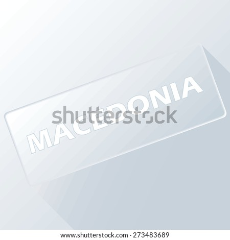 Macedonia unique button for any design. Vector illustration