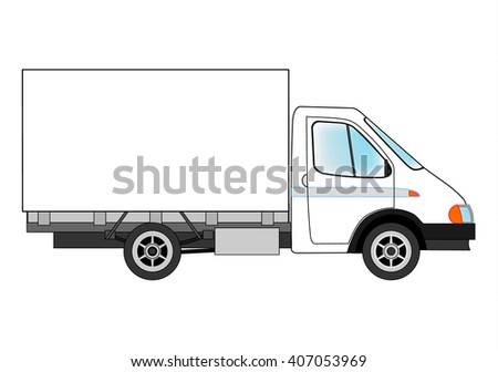 Machine for the transport of goods. Vector illustration. - stock vector