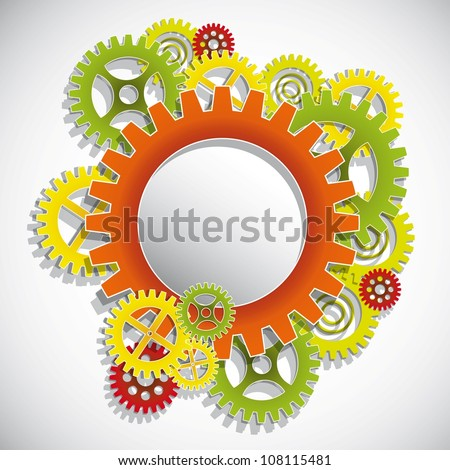 Machine Gear Wheel Vector.Eps10 .Image contain transparency and various blending modes - stock vector