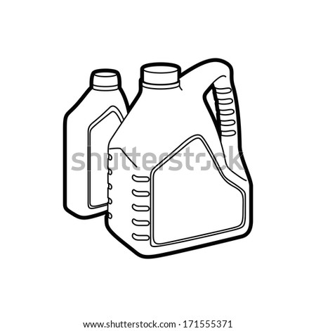 machine oil - stock vector