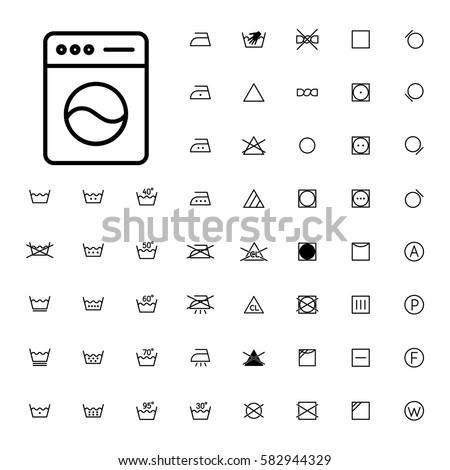washing machine instructions symbols