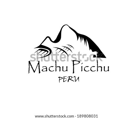 Machu Picchu illustration - stock vector