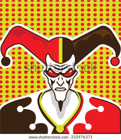 Mad Clown - stock vector