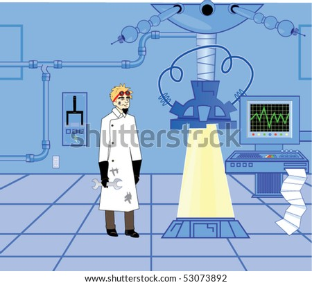 Mad Scientist Lab Pictures Mad Scientist in Lab Stock