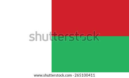 madagascar Flag for Independence Day and infographic Vector illustration. - stock vector