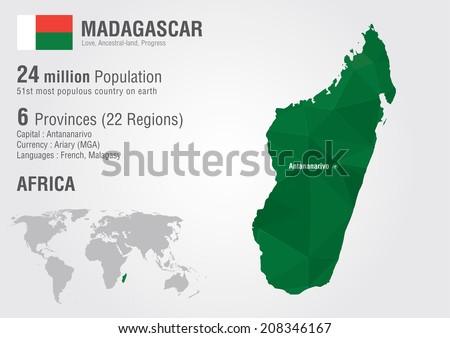 Madagascar world map pixel diamond texture stock vector 208346167 madagascar world map with a pixel diamond texture world geography gumiabroncs Gallery