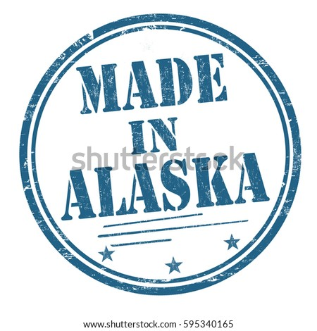 Made in Alaska grunge rubber stamp on white background, vector illustration