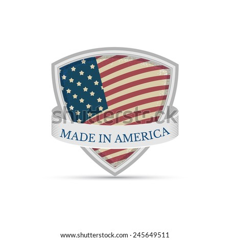Made in America Isolated on white background - stock vector