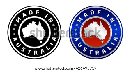 Made in Australia Sign - stock vector