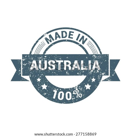 Made in Australia vintage stamp - stock vector