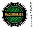 Made in Brazil label, vector illustration - stock vector