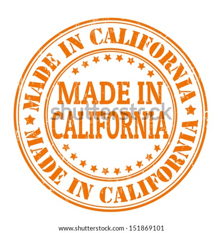 Made in California grunge rubber stamp, vector illustration - stock vector