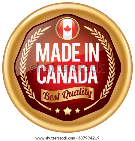 made in canada icon - stock vector