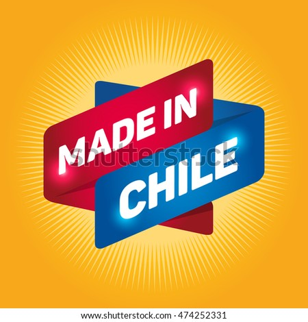 MADE IN CHILE arrow tag sign.