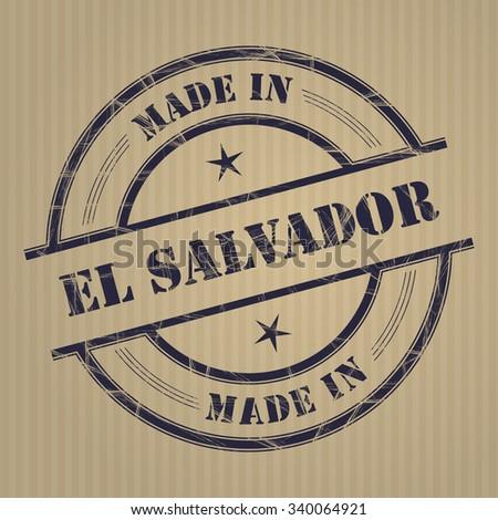 "Made in ""El Salvador"" grunge rubber stamp - stock vector"