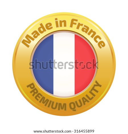 Made in France badge gold