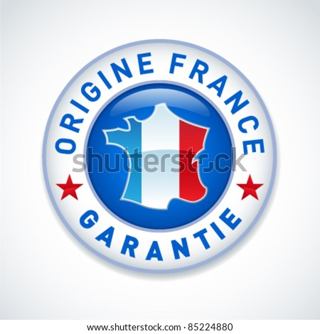 Made in France guaranteed label - stock vector