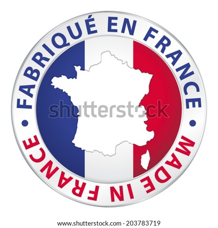 Made in France. Guaranteed vector label. - stock vector