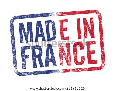Made in France inkpad - stock vector