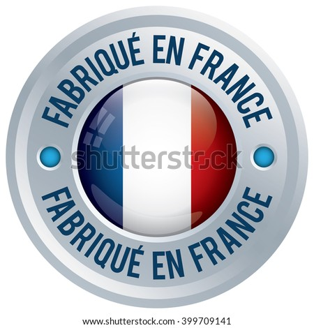 made in france rosette in french language - stock vector