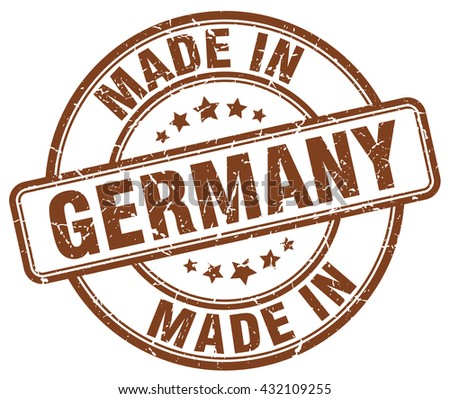 made in Germany brown round vintage stamp.Germany stamp.Germany seal.Germany tag.Germany.Germany sign.Germany.Germany label.stamp.made.in.made in. - stock vector