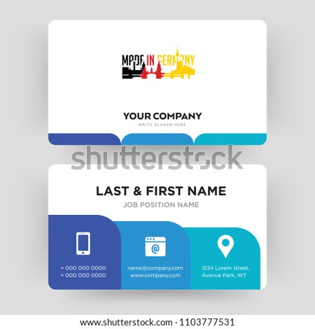 Made germany business card design template stock vector royalty made in germany business card design template visiting for your company modern creative reheart Images