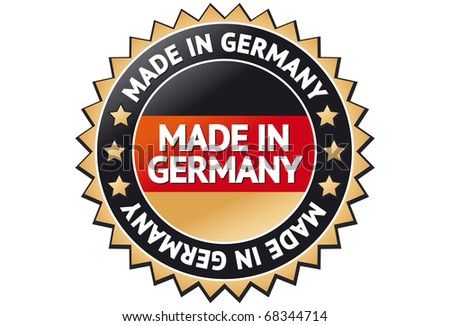 Made in Germany Label - stock vector