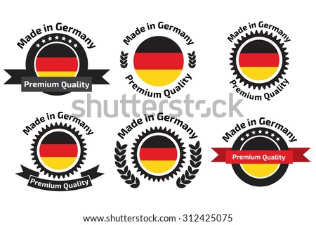 Made in Germany labels and badges. Made in Germany logo set - stock vector