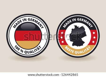 Made in Germany Quality Labels - stock vector