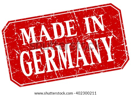 made in Germany red square grunge stamp