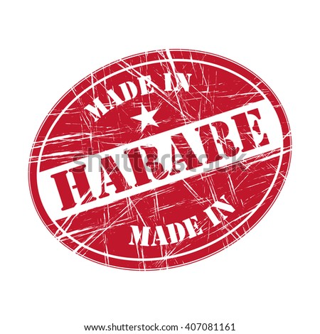 Made in Harare rubber stamp - stock vector