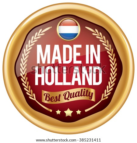 made in holland icon - stock vector