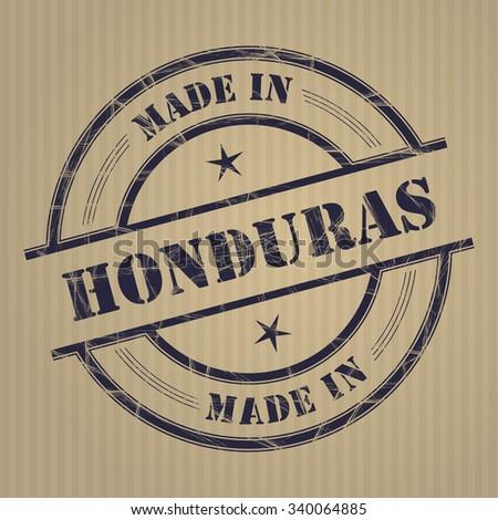 Made in Honduras grunge rubber stamp - stock vector