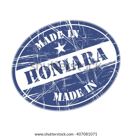 Made in Honiara rubber stamp - stock vector