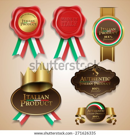 made in italy product - stock vector