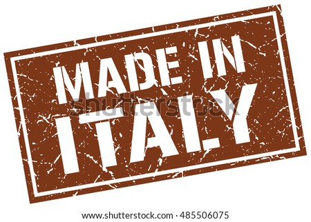 made in Italy stamp. Italy grunge vintage isolated square stamp. made in Italy