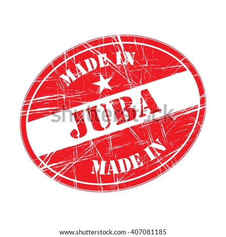 Made in Juba rubber stamp - stock vector