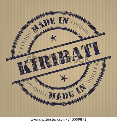Made in Kiribati grunge rubber stamp - stock vector