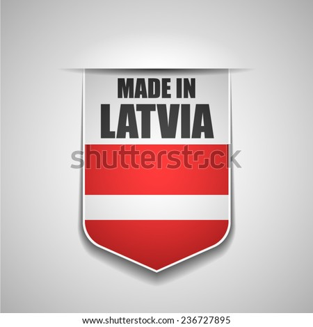 Made in Latvia - stock vector