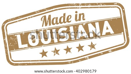 made in louisiana - stock vector