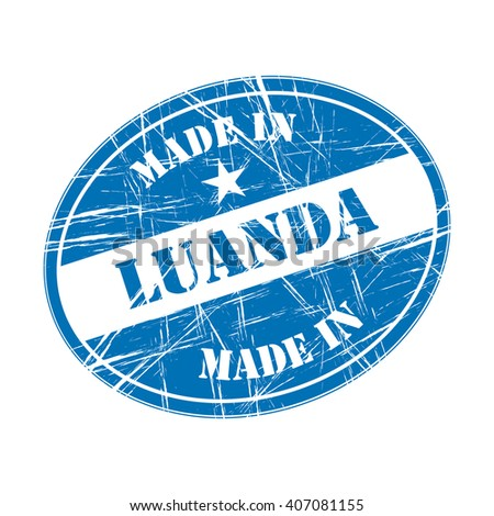 Made in Luanda rubber stamp - stock vector